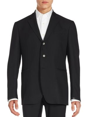 John Varvatos Hampton Wool Sportcoat In Black