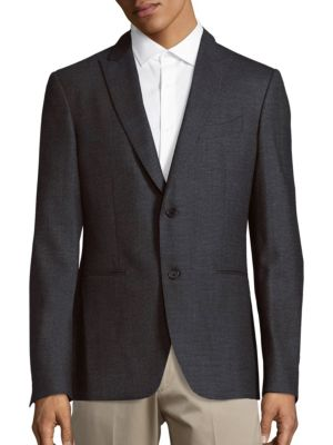 John Varvatos Austin Fit Stretch Wool Sportcoat In Grey