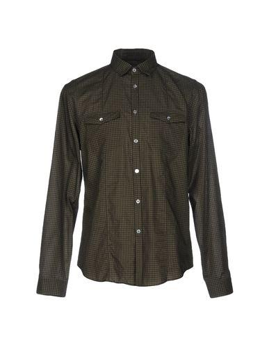 John Varvatos Checked Shirt In Military Green