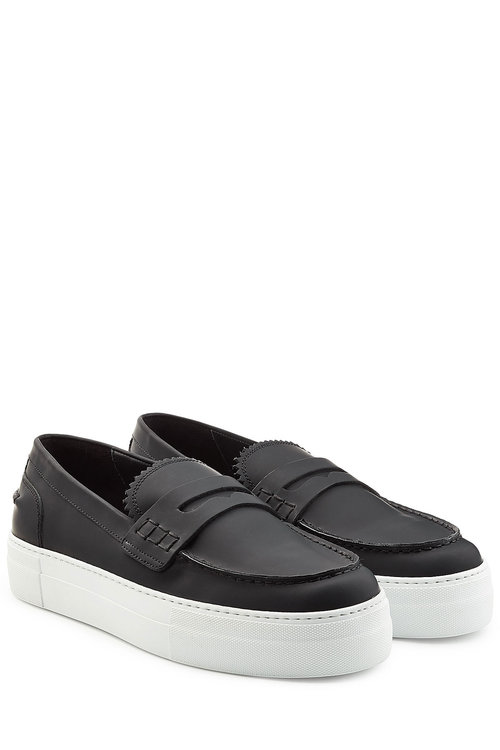 Dsquared2 Platform Leather Loafers In Black