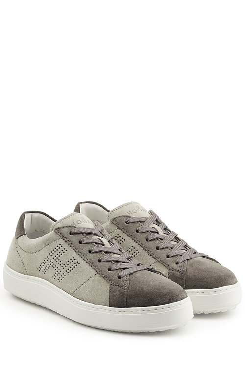 Hogan Suede Sneakers In Grey