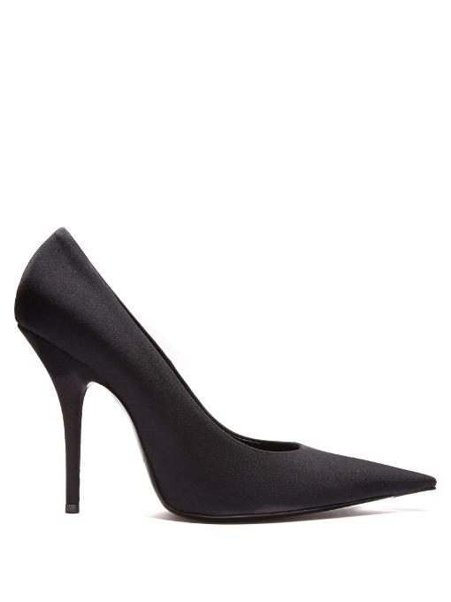 Balenciaga Knife High-Heel Jersey Pumps In Black