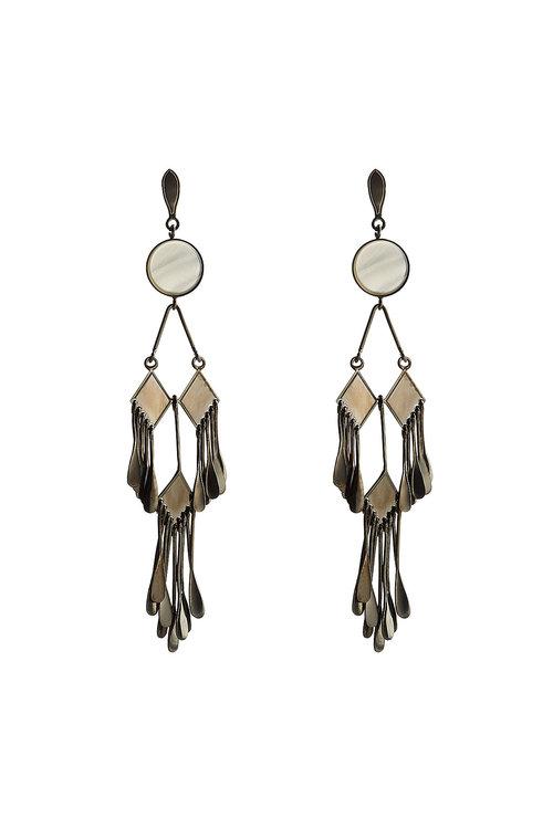 Etro Chandelier Earrings In Silver