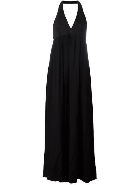 Paco Rabanne Halterneck Long Dress - Black