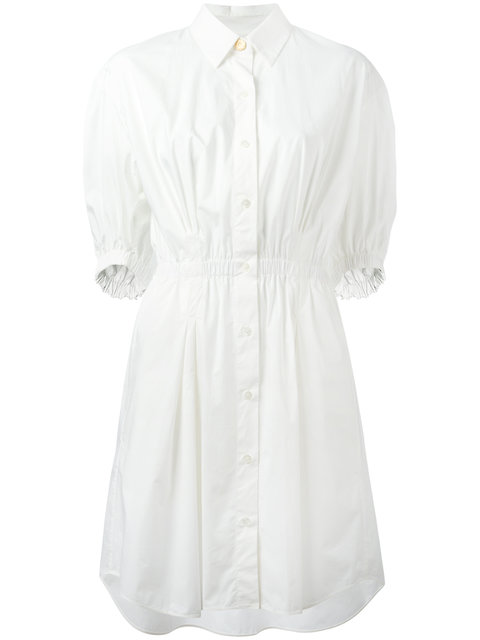 Sonia Rykiel Elasticated Waistband Shirt Dress - White