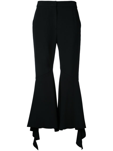Goen J Frill Flared Trousers
