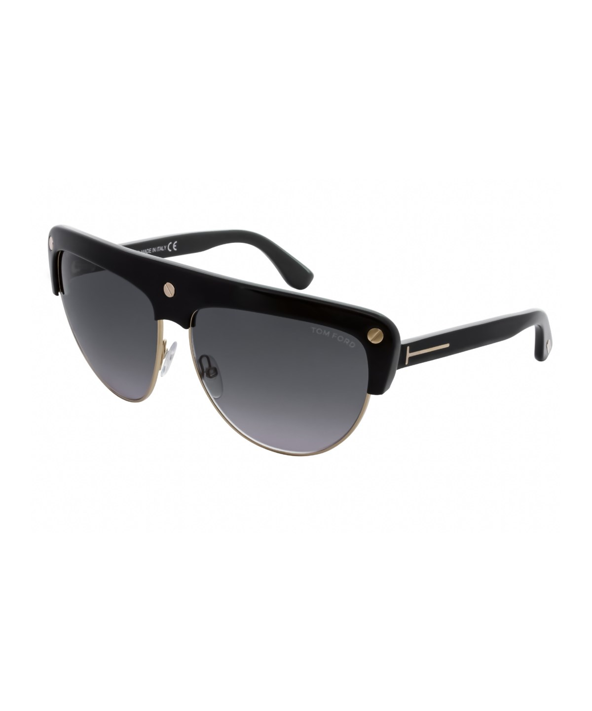 Tom Ford Ft0318 Liane 01B In Shiny Black  / Gradient Smoke