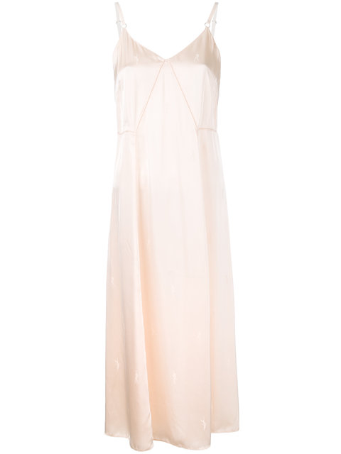 Alexander Wang Silky Midi Dress - Nude & Neutrals