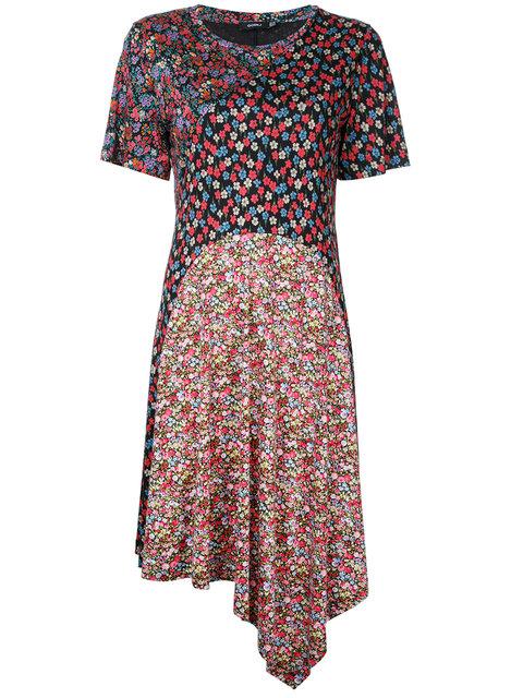 Goen J Floral Asymmetric Hem Dress