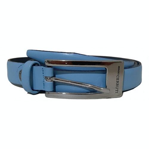 Pre-owned Cerruti 1881 Blue Leather Belt