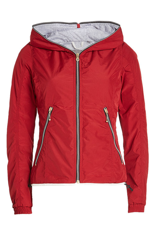 Duvetica Down Jacket With Hood In Red