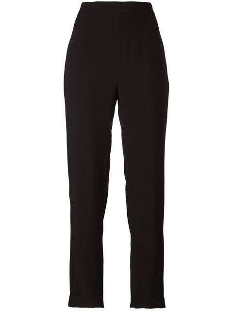 Balmain High Waist Trousers - Black