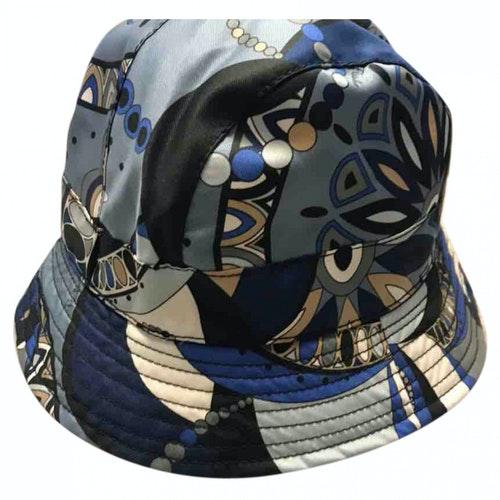 Pre-owned Emilio Pucci Blue Cotton Hat