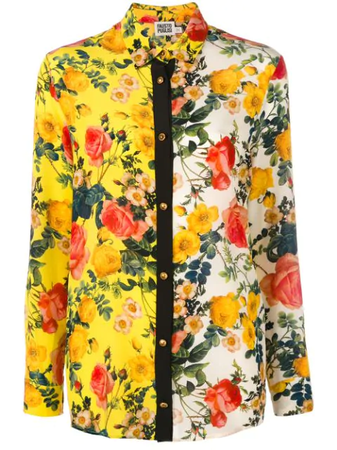 Fausto Puglisi Floral Shirts & Blouses In Yellow