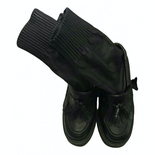 Pre-owned Sacai Black Leather Boots
