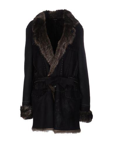 Roberto Cavalli Belted Coats In Black