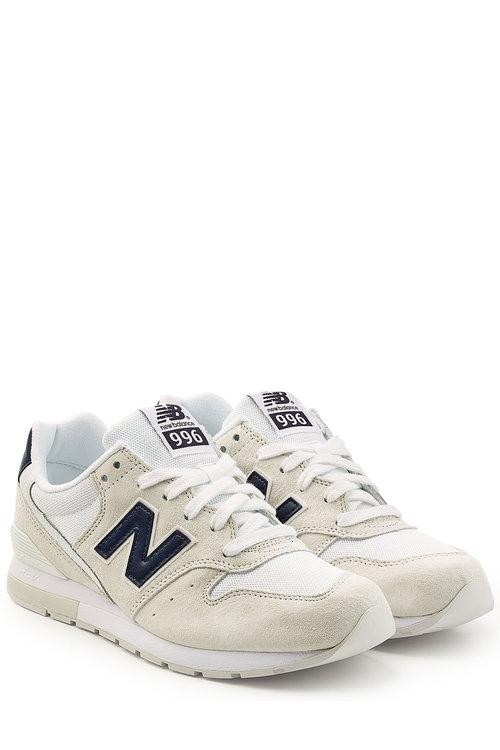 New Balance Sneakers With Suede And Mesh In White