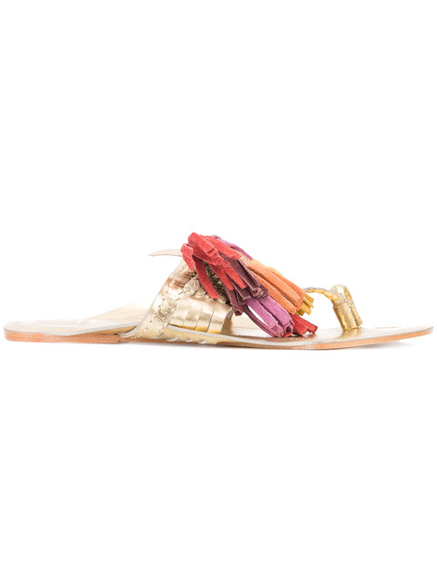 Figue Scaramouche Metallic Tassel Sandal, Multi