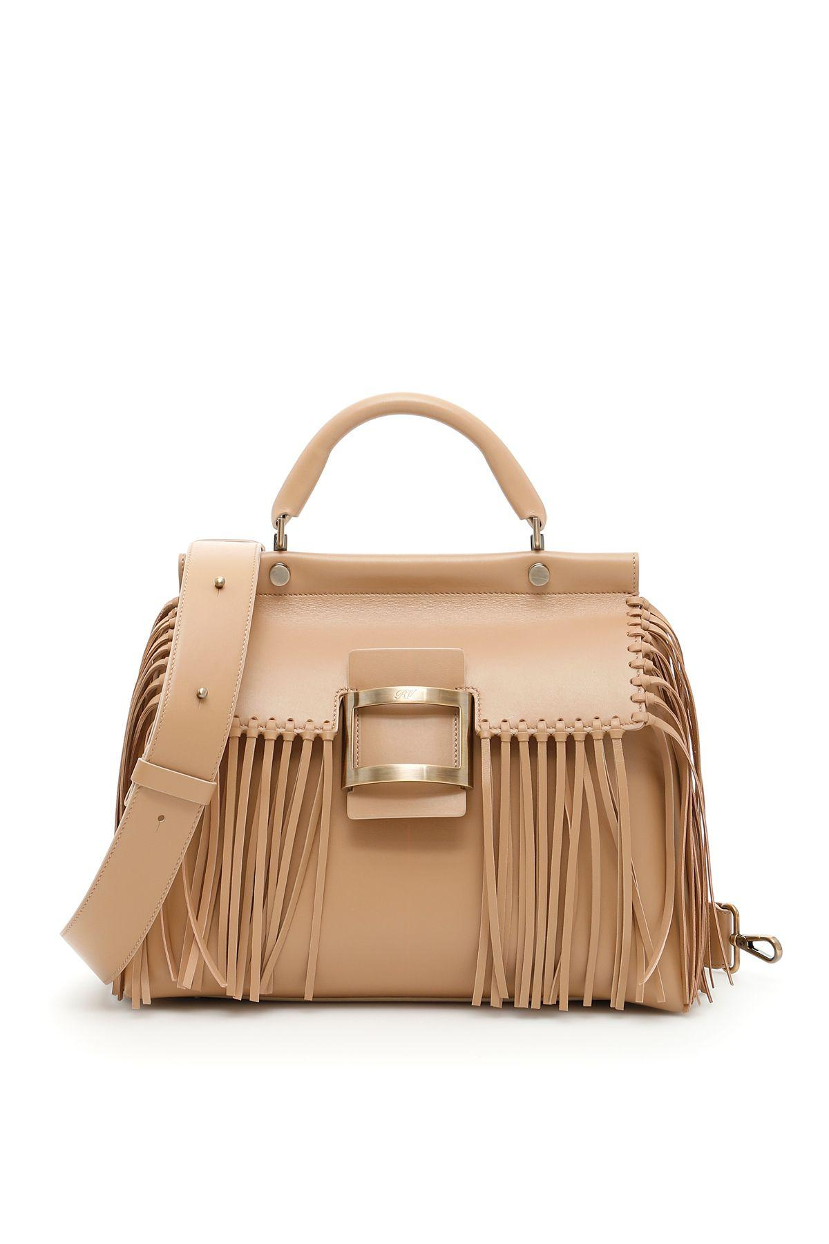 Roger Vivier Viv Cabas Small Bag In Saharabeige