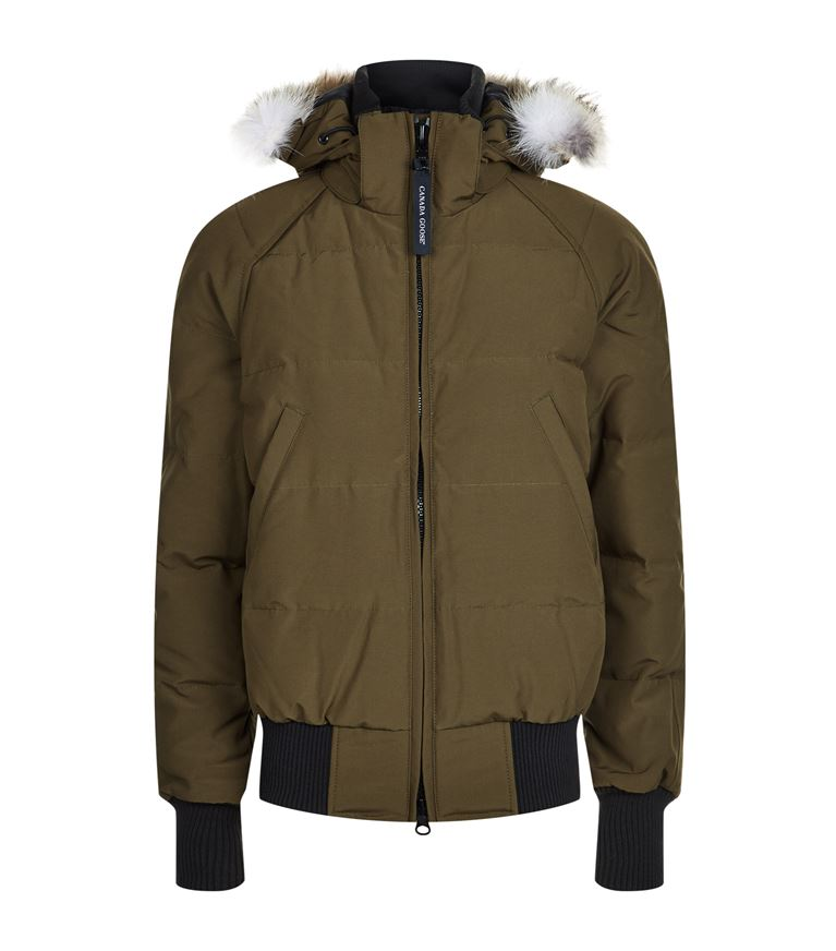 Canada Goose Savona Hooded Quilted Bomber Jacket In Military Green