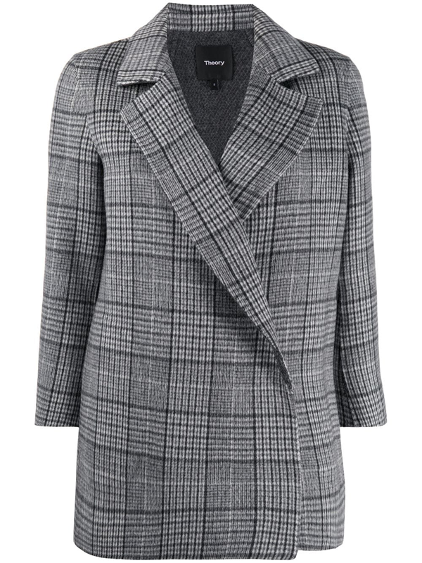Theory Women's Clairene Weston Plaid Jacket In Grey