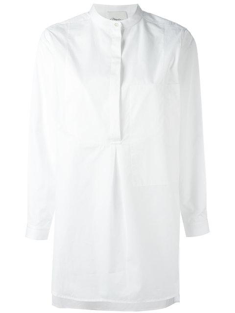 3.1 Phillip Lim Classic Poplin Tunic Shirt - White