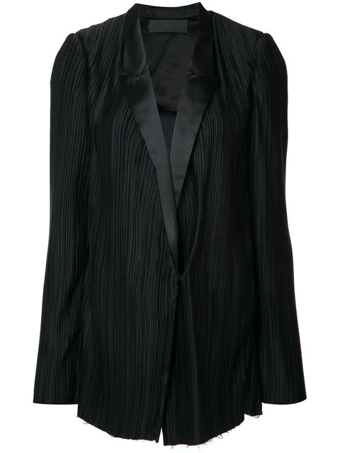 Haider Ackermann PlissÉ-Pleated Blazer In Caeis Llack
