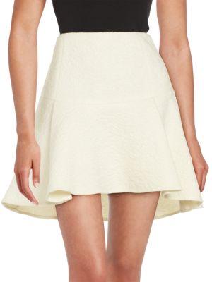 Rachel Zoe Flared Mohair, Wool And Alpaca Skirt In White