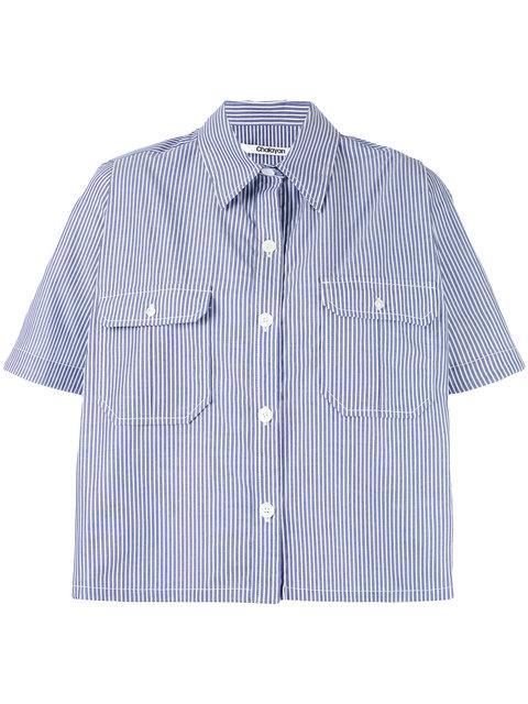 Chalayan Striped Cape Shirt - Blue