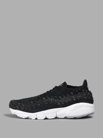 Nike Air Footscape Suede & Woven Sneakers In Black