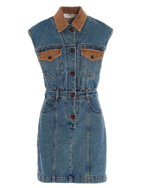 Philosophy Women's Blue Cotton Dress