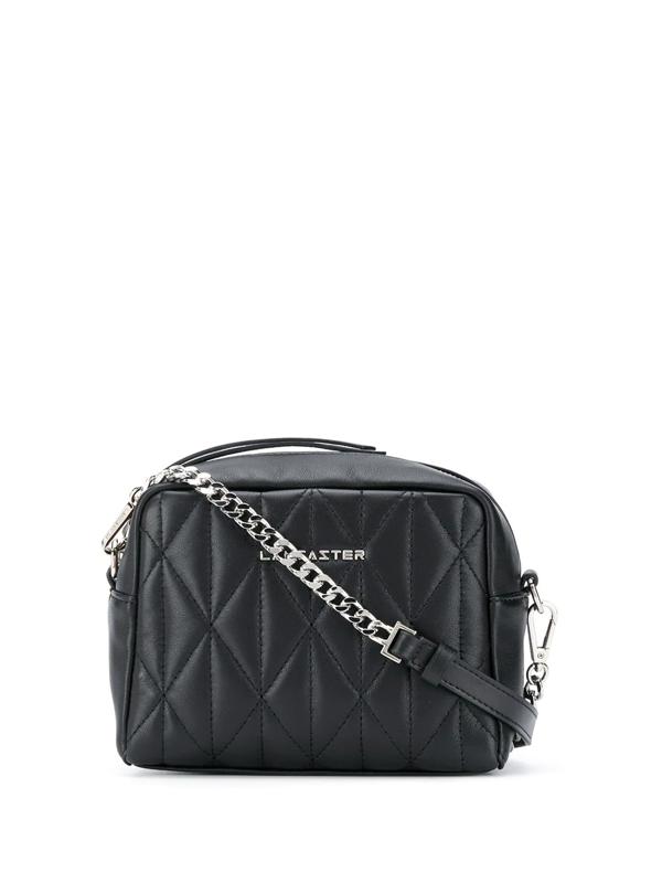 Lancaster Quilted Shoulder Bag In Black