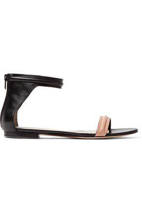 3.1 Phillip Lim Woman Kiddie Two-Tone Leather Sandals Black