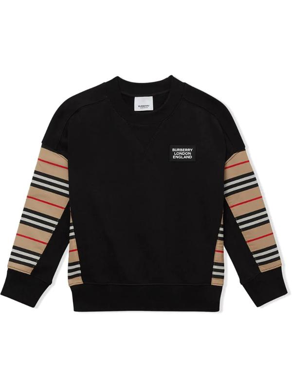 Burberry Kids' Hamilton Icon Sweatshirt In Black