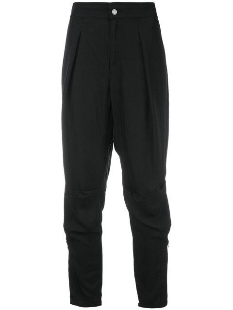 Tom Ford Drop-Crotch Cropped Trousers - Black