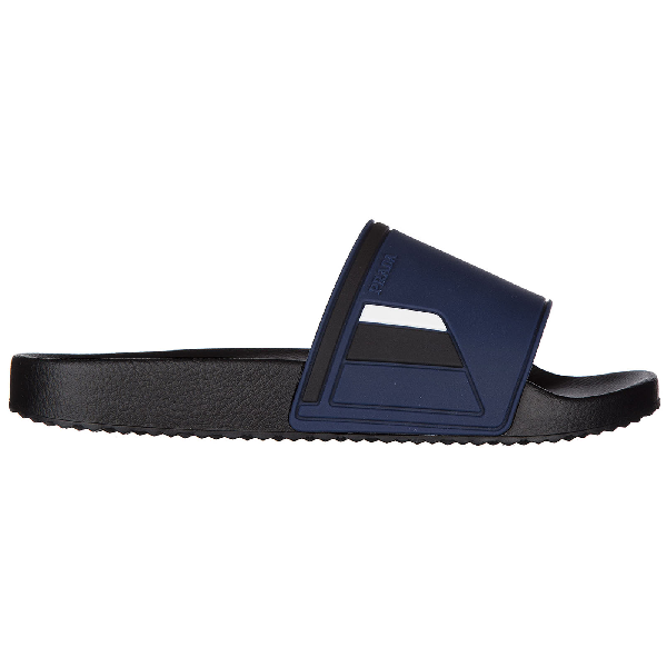 3aff5ff34b4 Prada Men S Colorblock Rubber Pool Slide Sandal In Blue