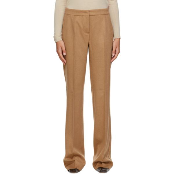 Max Mara Pescia High-rise Wool Straight-leg Trousers In 001 Camel