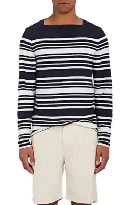 Orlebar Brown Byrne Striped Cotton T-Shirt In Navy,White