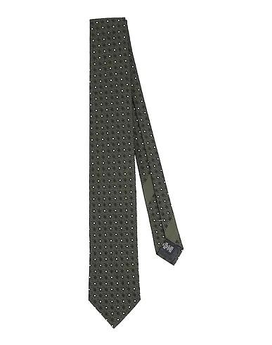 Zegna Tie In Dark Green