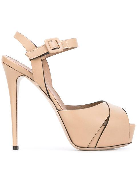 Le Silla Platform Sandals In Nude & Neutrals