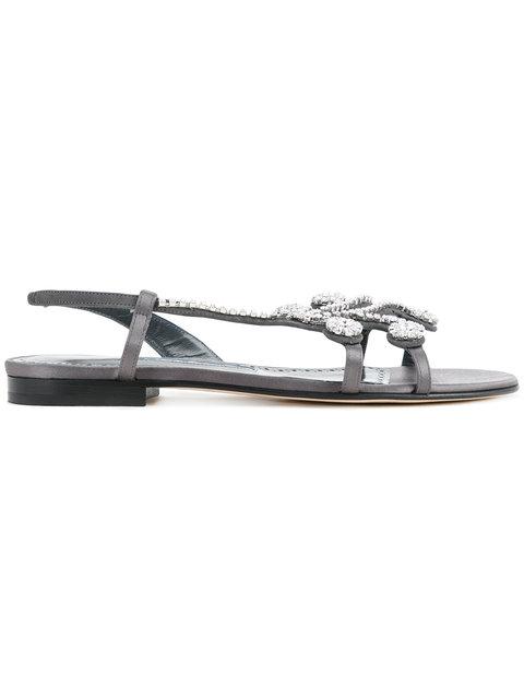 Manolo Blahnik Fernus Flat Sandals