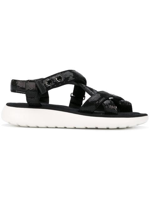 Marc Jacobs Sequined Sandals - Black