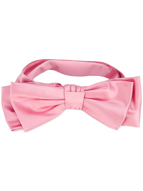 Gucci Oversized-Bow Silk Headband In Pink