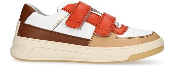 Acne Studios Steffey Mix Sneakers In Brown/orange/white