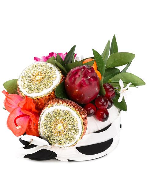 Dolce & Gabbana Fruit Hat In White