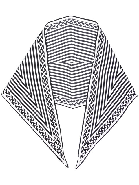 Haider Ackermann Striped Scarf - Black