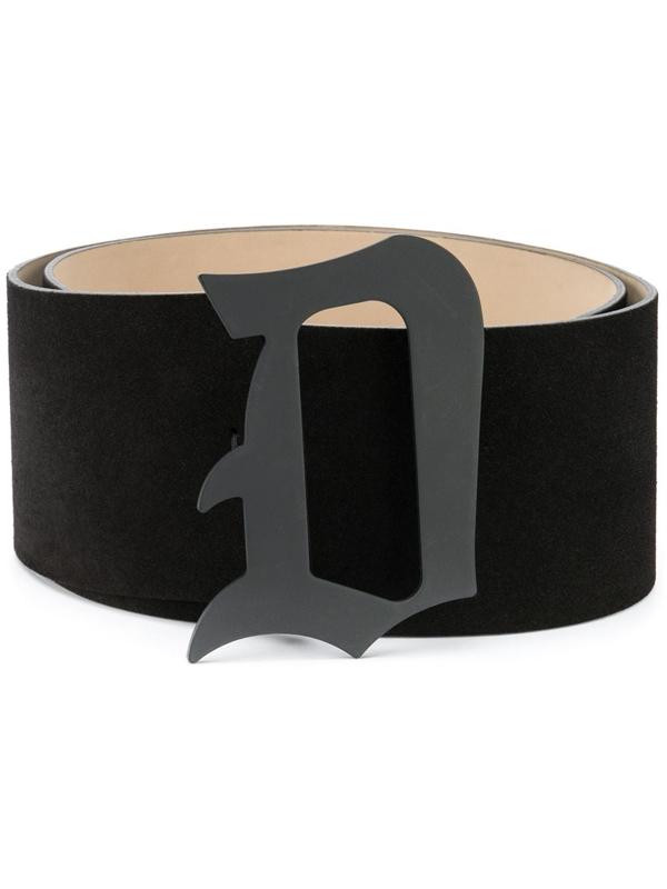 Dondup Black Belt In Suede Leather