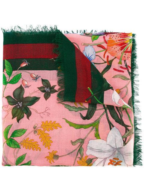Gucci Flora Web Print Scarf