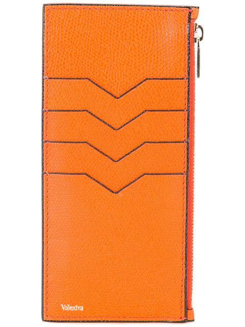 Valextra Vertical Cardholder - Yellow