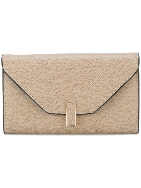 Valextra Iside Small Grained Wallet - Brown